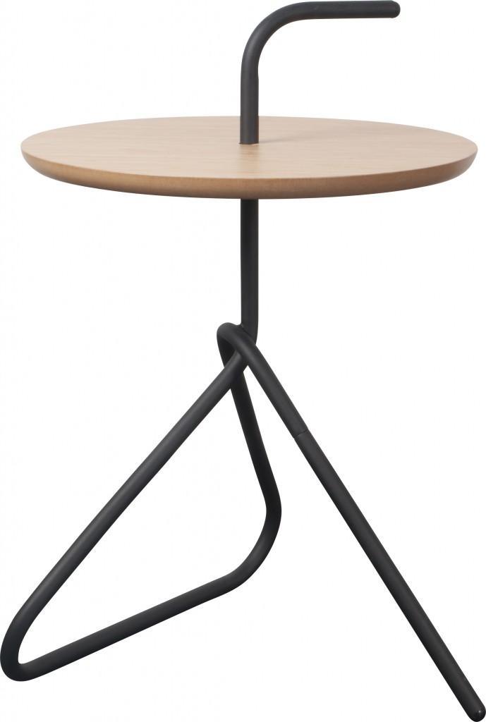 Runder Design Beistelltisch HANDLE Mit Griff Von Zuiver
