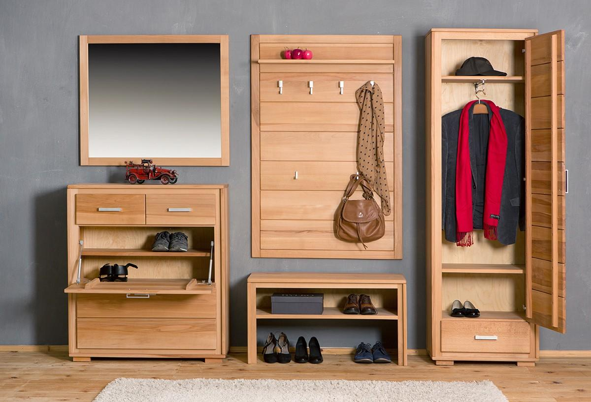schuhschrank schuhkipper genf 91 cm kernbuche massiv ge lt gewachst. Black Bedroom Furniture Sets. Home Design Ideas