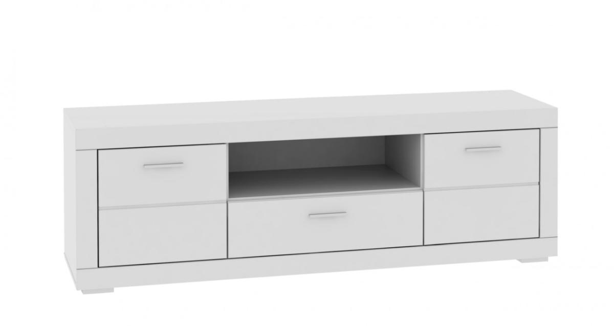 Lowboard weiß matt  TV-Board SNOW Lowboard 196 cm, 2 Türen 1 Schub., Weiß matt