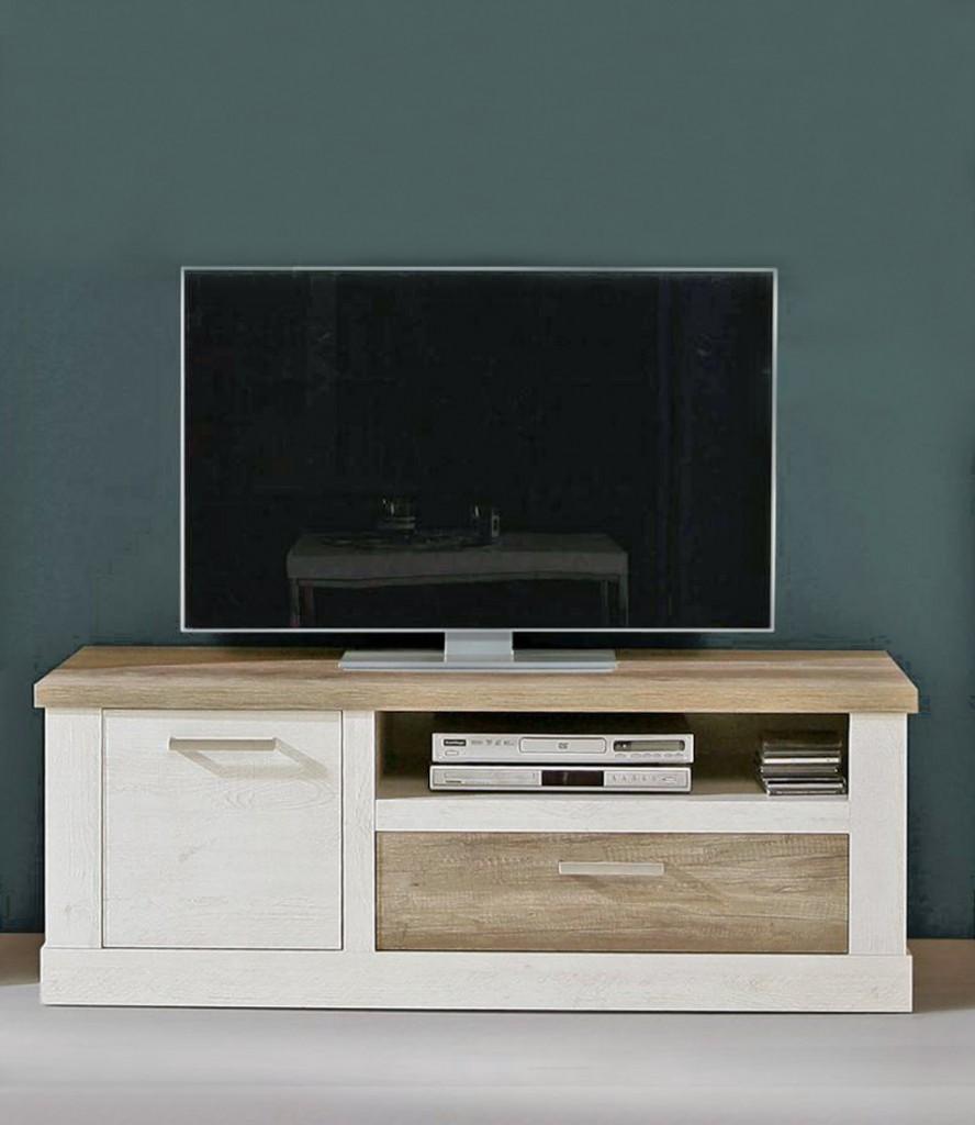 Lowboard Duro Tv Board Mit Geratefach Optik Pinie Weiss Antik Forte