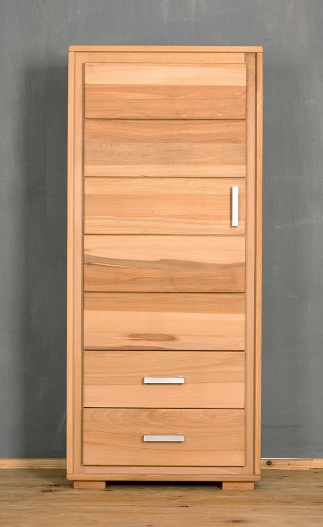 schrank genf 1 t rig links kernbuche massivholz ge lt. Black Bedroom Furniture Sets. Home Design Ideas
