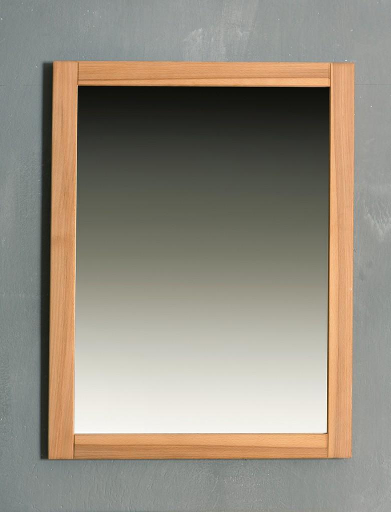 Spiegel 61 x 80 cm Genf - Kernbuche Massivholz geölt/gewachst