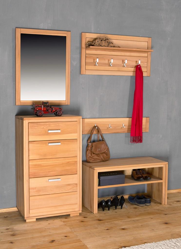 Garderoben set genf iv kernbuche massivholz ge lt gewachst for Garderoben set sale