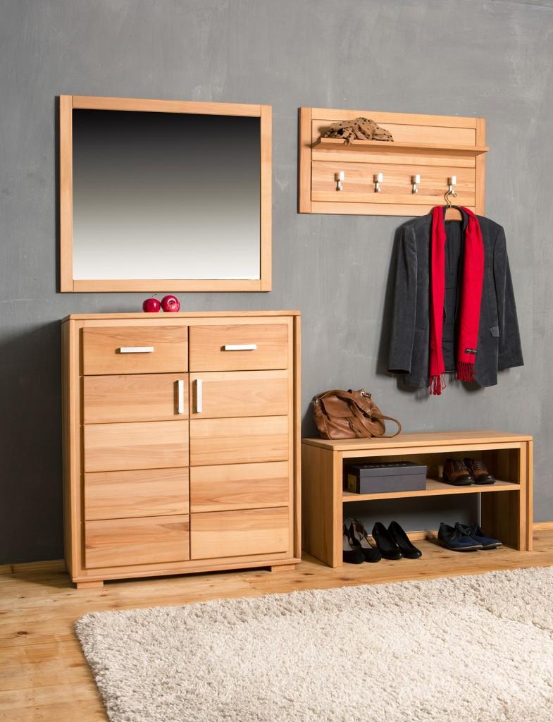 garderoben set genf v kernbuche massivholz ge lt gewachst 4 teilig. Black Bedroom Furniture Sets. Home Design Ideas