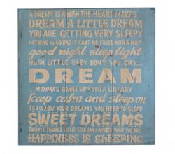 "Wall Art Deko Holzschild - ""A dream"" im Vintage Look"