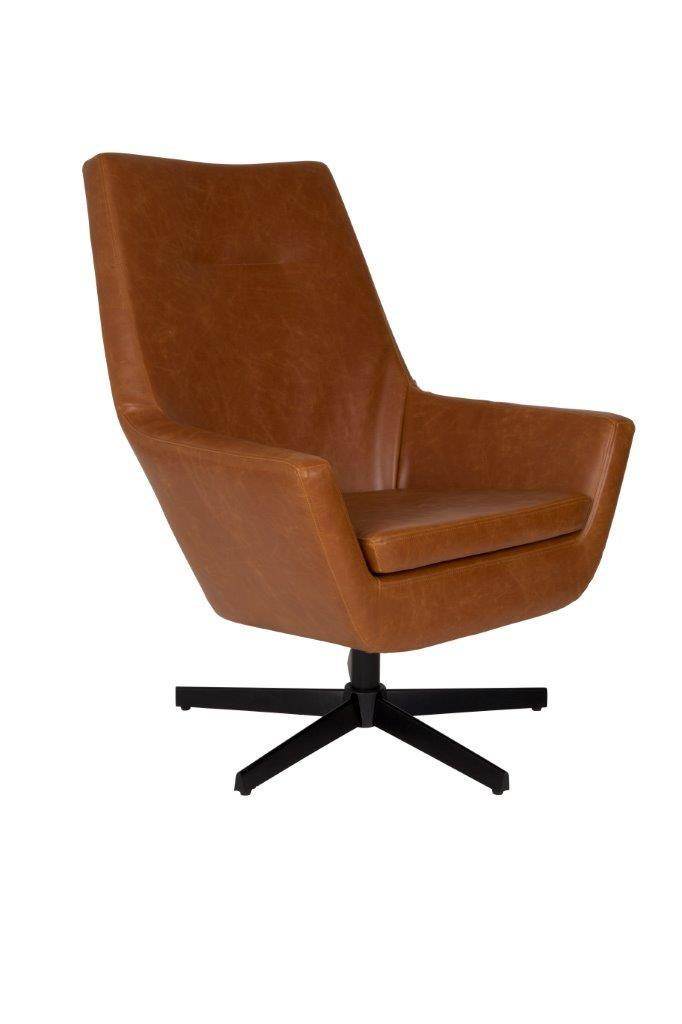 Lounge Sessel Don Cognac Von Dutchbone Kunstleder