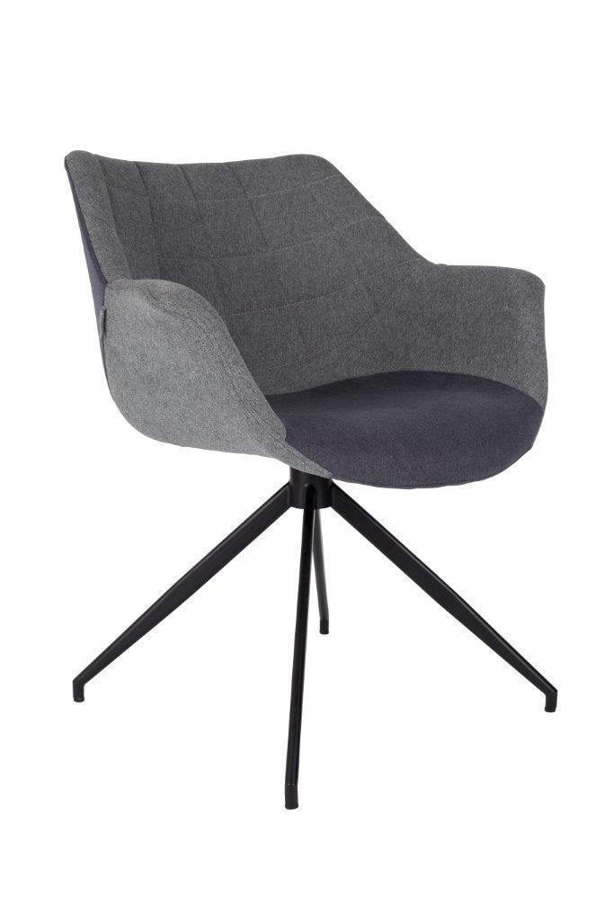 DOULTON Grey Von ZUIVER Esszimmerstuhl Lounge Sessel