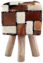 Romanteaka 7995-08 Sitzhocker mit Ziegenfell quadratisch
