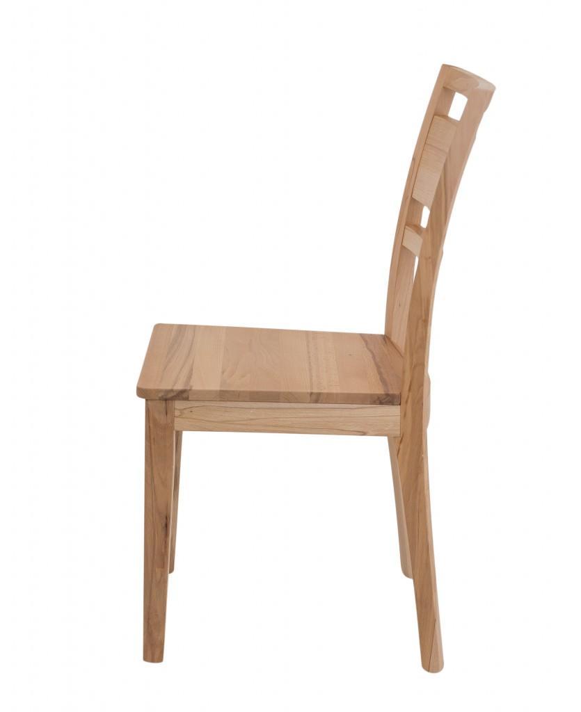 Design Stuhl SANDRA Holzstuhl Massiv Kernbuche Eiche Nußbaum