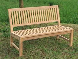 Stabile Gartenbank Kingsbury in Premium Teak ohne Armlehne 150 cm