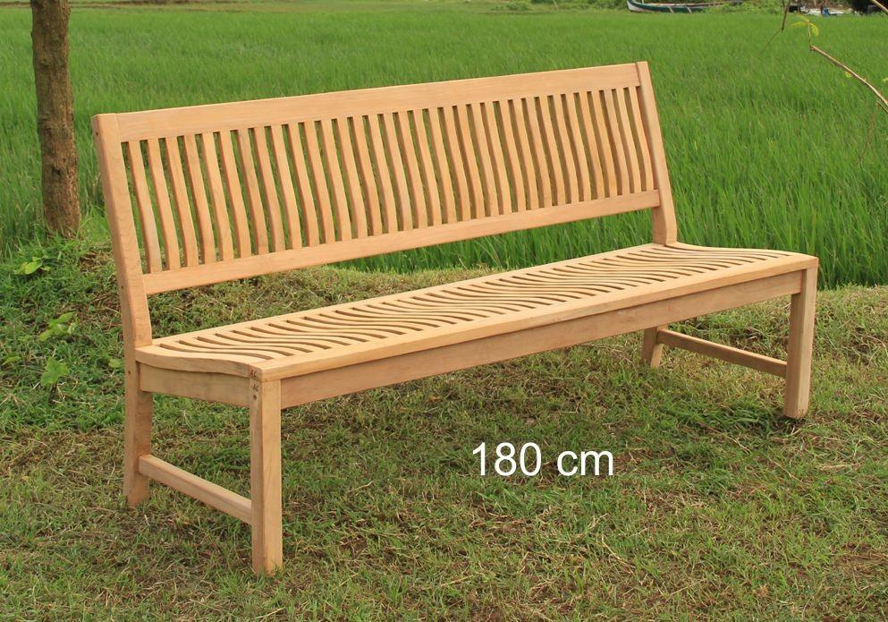 Stabile Gartenbank Kingsbury - Premium Teak ohne Armlehne 180 cm