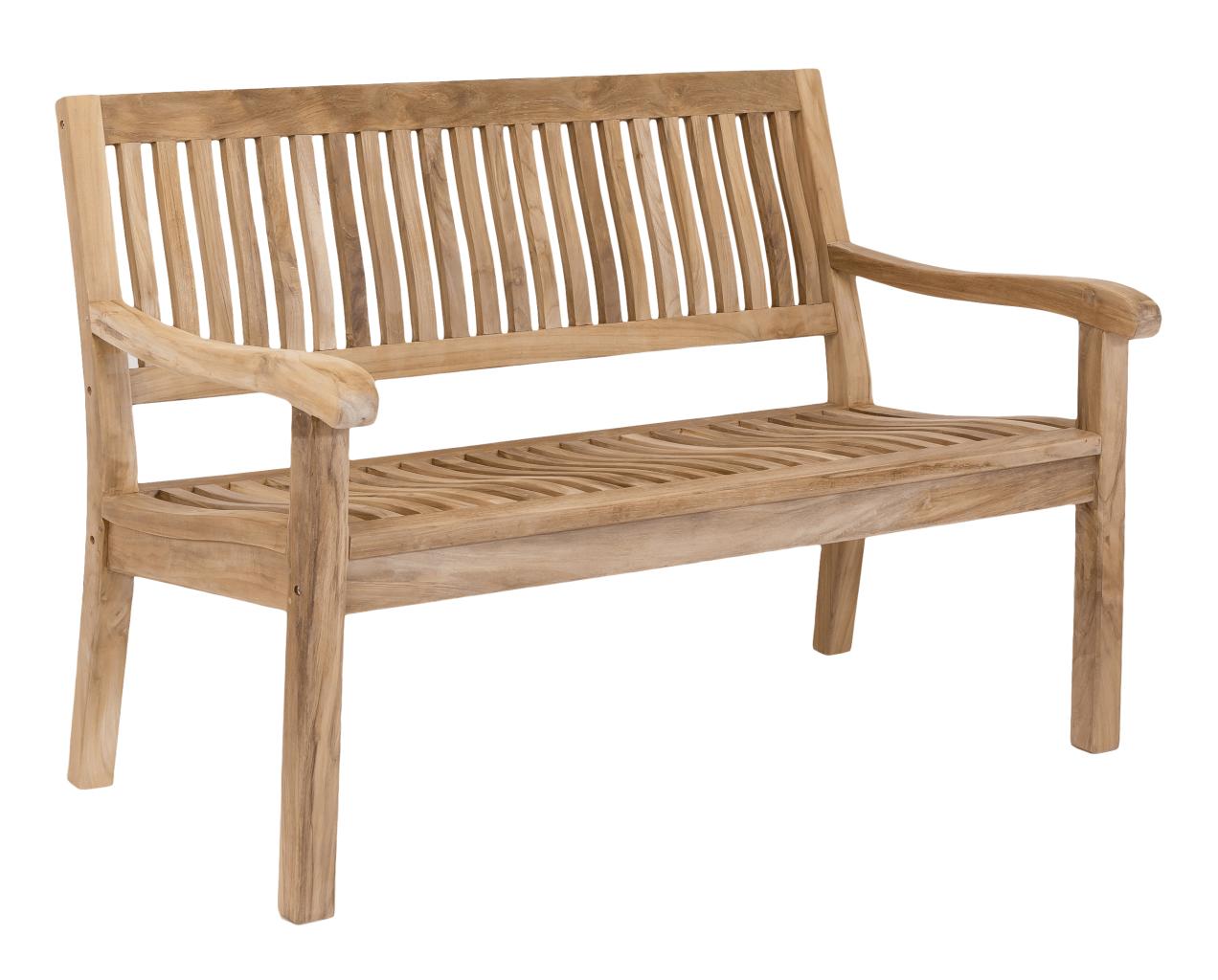 Stabile 3-sitzer Gartenbank Kingsbury in Premium Teak 150 cm
