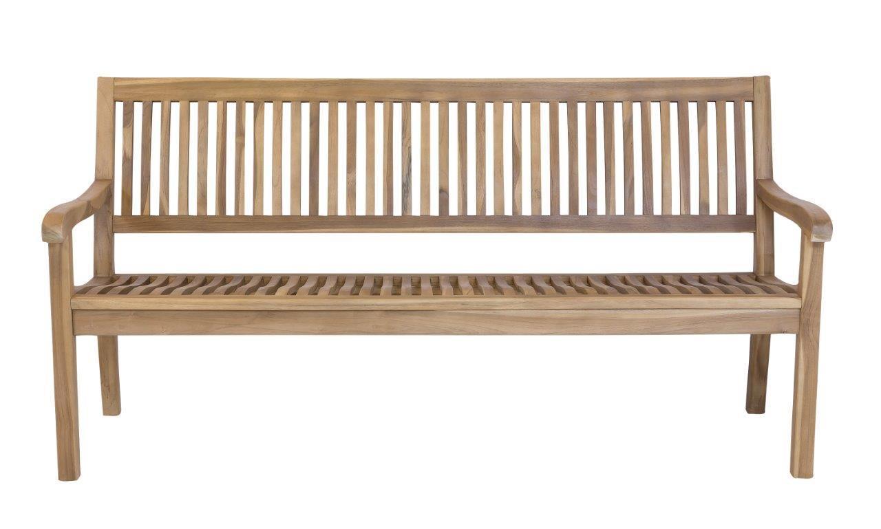 Stabile 4-sitzer Gartenbank Kingsbury in Premium Teak 180 cm