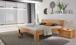 Hasena Massivholzbett modern Serie Wood-Line Buche Holzbett