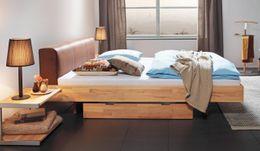 Schwebebett Wood-Line Buche Massivholzbett Bett Hasena