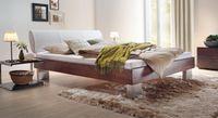 Massivholzbett Wood-Line Design Bett moderner Fuß von Hasena 001