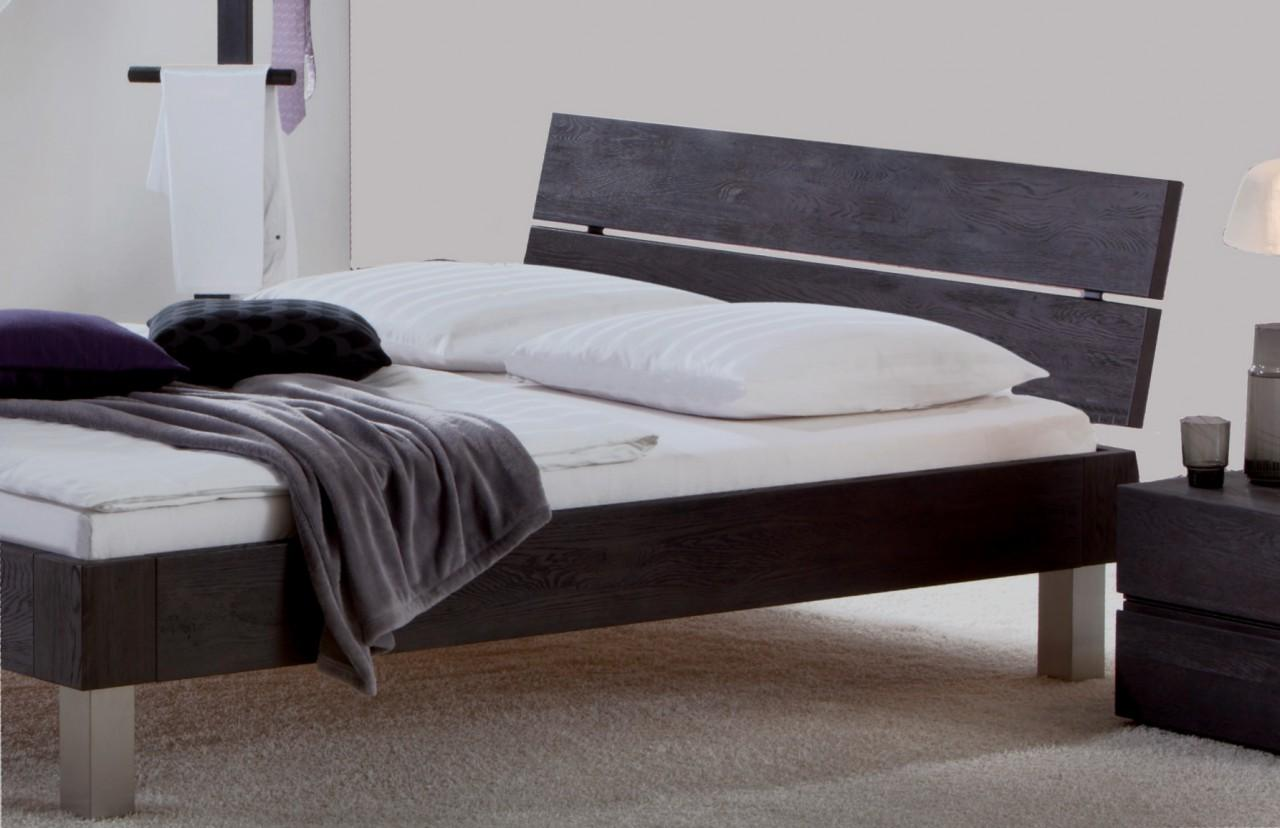 massivholzbett oak line bett eiche massiv metallfu von hasena. Black Bedroom Furniture Sets. Home Design Ideas