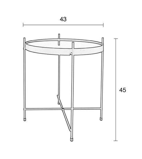 Beistelltisch cupid rund kupfer 43 cm von zuiver for Beistelltisch kupfer rund