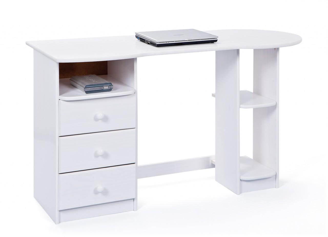 schreibtisch touchround kiefer wei lackiert ebay. Black Bedroom Furniture Sets. Home Design Ideas