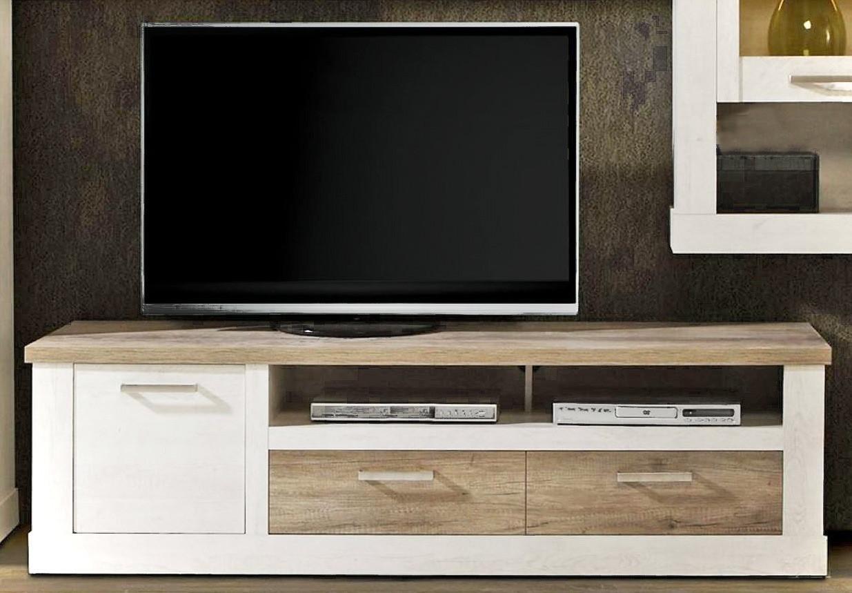 Charmant Lowboard DURO TV Board 2 Schubladen Und Gerätefach, Pinie Weiß Antik