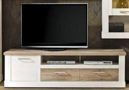 Lowboard DURO TV-Board 2 Schubladen und Gerätefach, Pinie weiß antik