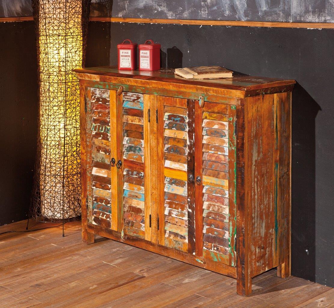 Unique Vintage Sideboard Digam Aus Mangoholz 4 Turig