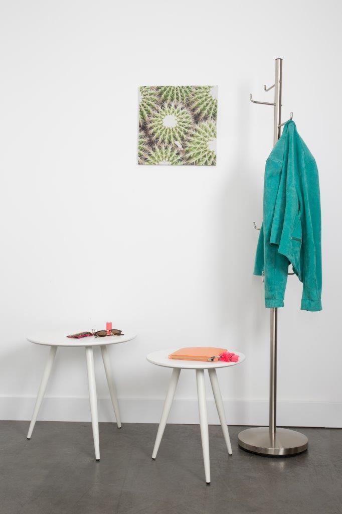 beistelltisch daven wei 2er set rund. Black Bedroom Furniture Sets. Home Design Ideas
