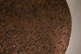 Beistelltisch Bast Kupfer handgeschnitzt Platte  Vorschau