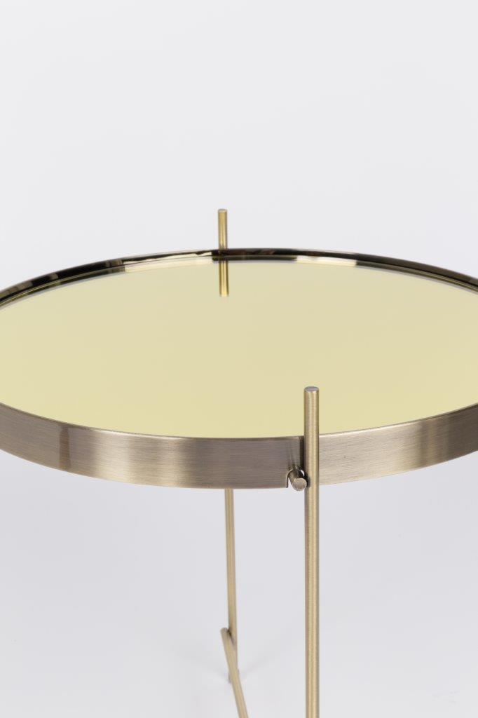 beistelltisch cupid rund 43 cm durchmesser in gold von zuiver. Black Bedroom Furniture Sets. Home Design Ideas