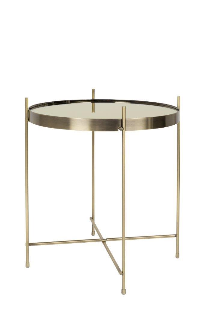 Beistelltisch CUPID rund 43 cm Durchmesser in gold von Zuiver