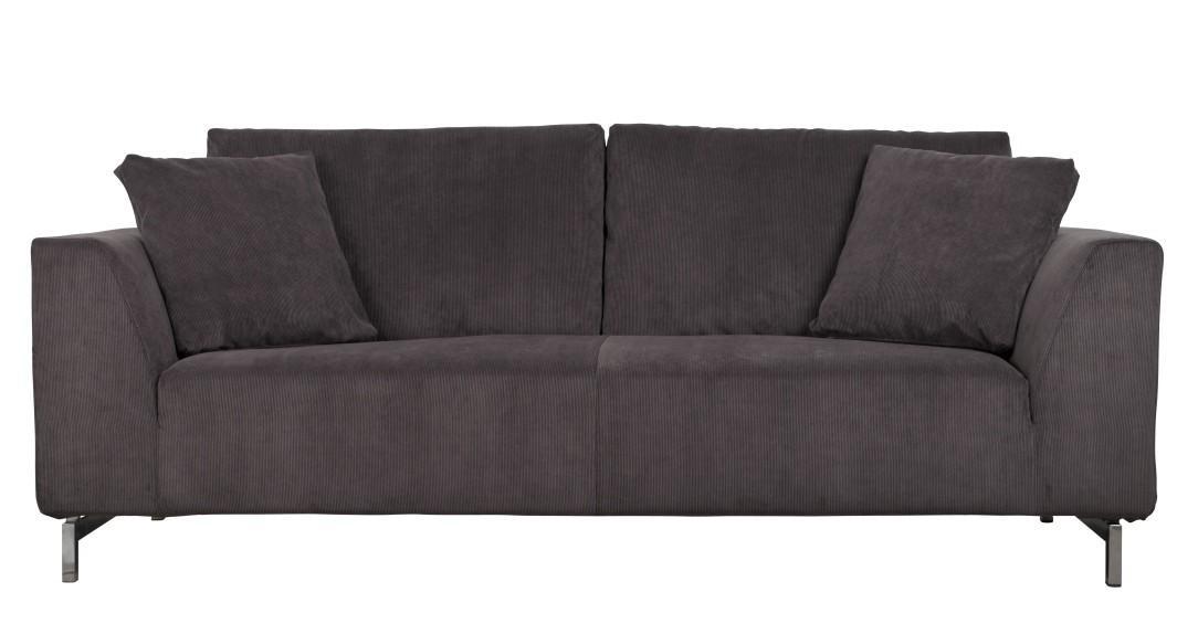 Sofa 3-sitzer DRAGON RIB in grau von Zuiver