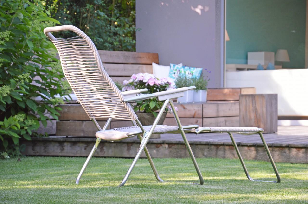 liegestuhl spaghetti taupe von jan kurtz. Black Bedroom Furniture Sets. Home Design Ideas