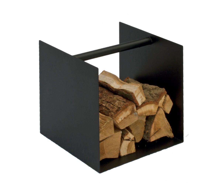 Kaminholzablage BOX Ablage Schwarz oder Weiß, für Brennholz