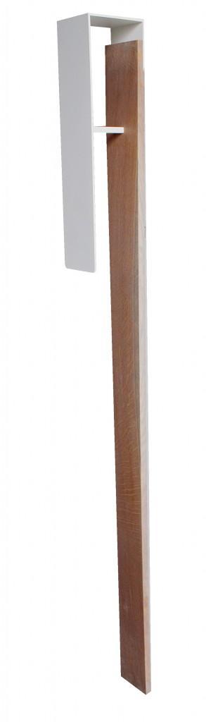 Garderobe Wandgarderobe FRESH 3 Eiche und weißer Stahl von Spinder