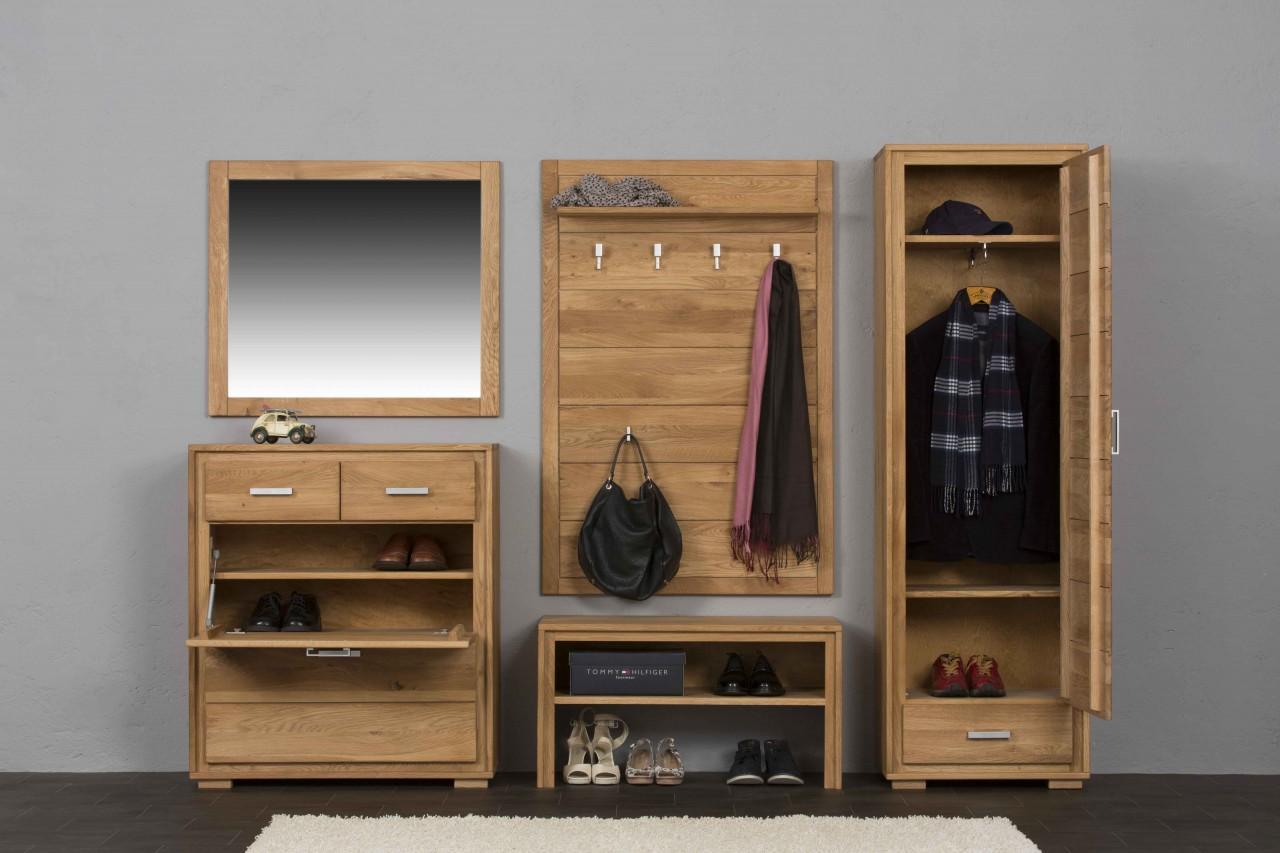 Garderobe Holz Massiv ~ Schuhschrank schuhkipper basel 91 cm wildeiche massiv geölt gewachst