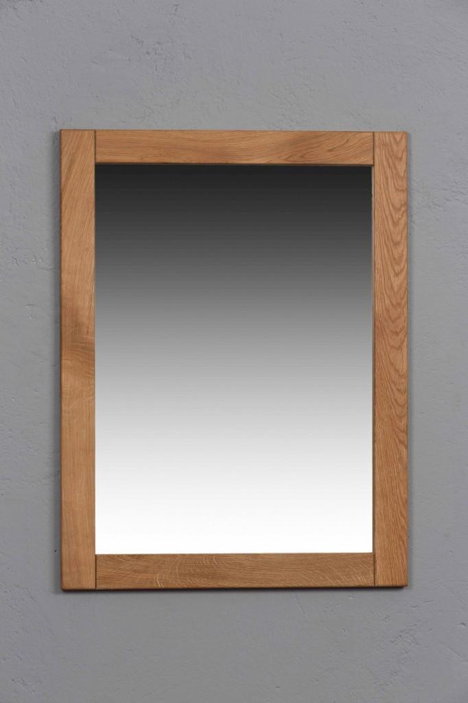 spiegel 61 x 80 cm basel wildeiche massivholz ge lt gewachst. Black Bedroom Furniture Sets. Home Design Ideas