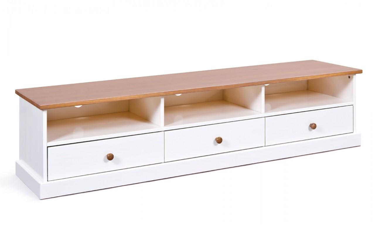 TV-Board Westerland 180 cm Kiefer weiß Lowboard im Landhausstil