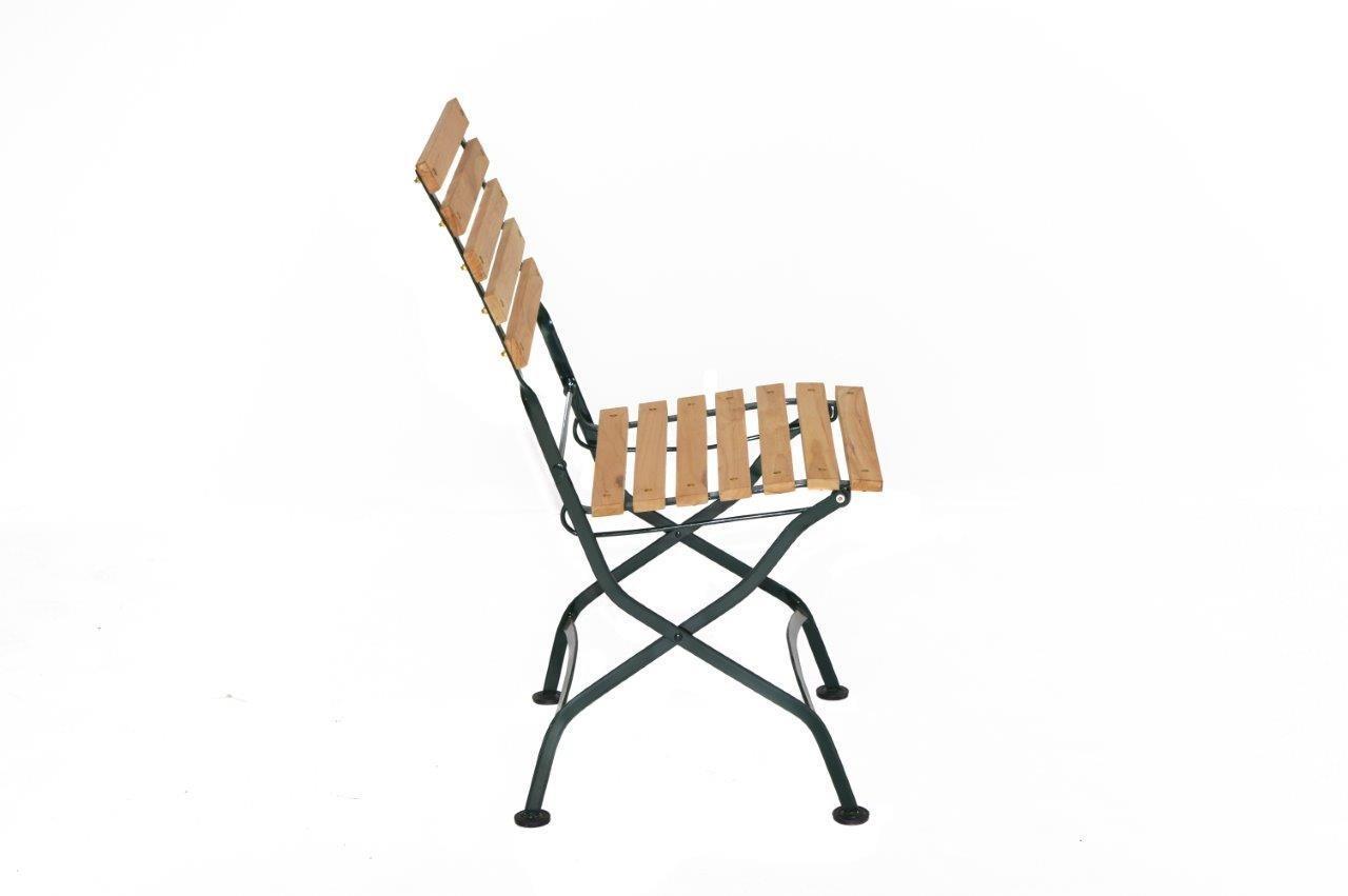 plo gartenstuhl klappstuhl verona metall und teak. Black Bedroom Furniture Sets. Home Design Ideas