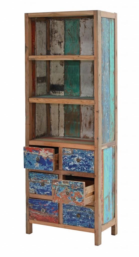 b cherregal seaside regal aus recycling teak terrassenregal plo. Black Bedroom Furniture Sets. Home Design Ideas