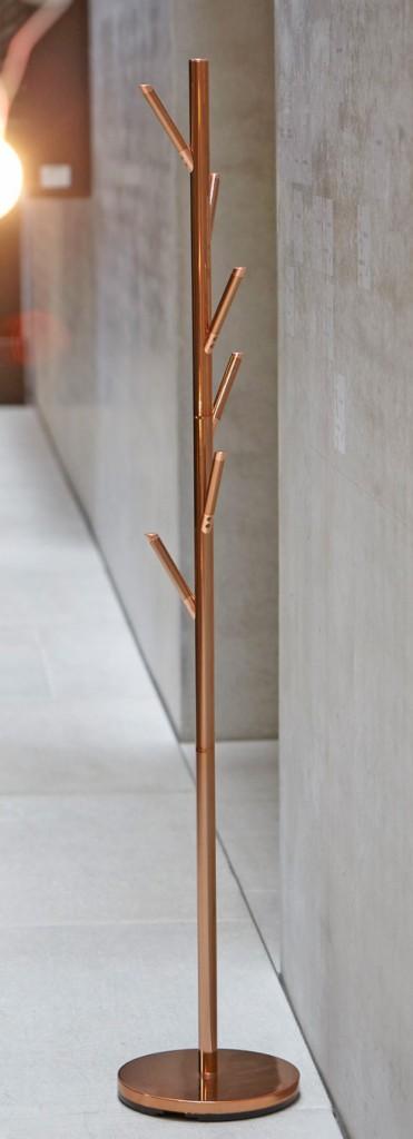 Design Garderobe Kleiderständer DETROIT Kupfer-Optik von Jan Kurtz