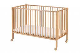 Klappbares Kinderbett Reisebett tiSsi® Natur inkl. Matratze und Hülle