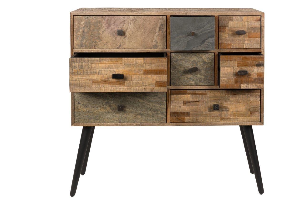kommode schubladenkommode san aus recycled teak ebay. Black Bedroom Furniture Sets. Home Design Ideas