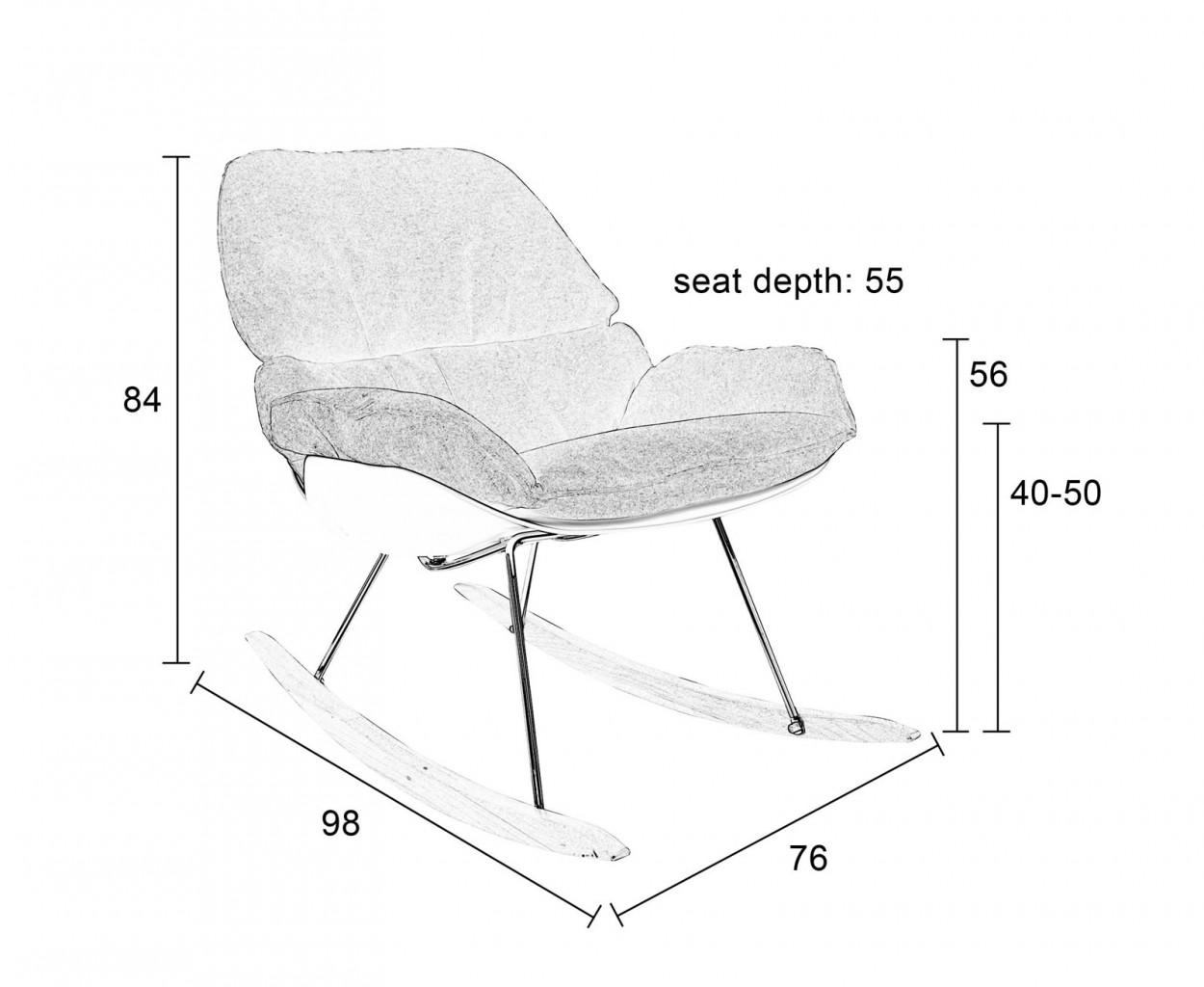 design schaukelstuhl rocky wei mit polsterung. Black Bedroom Furniture Sets. Home Design Ideas