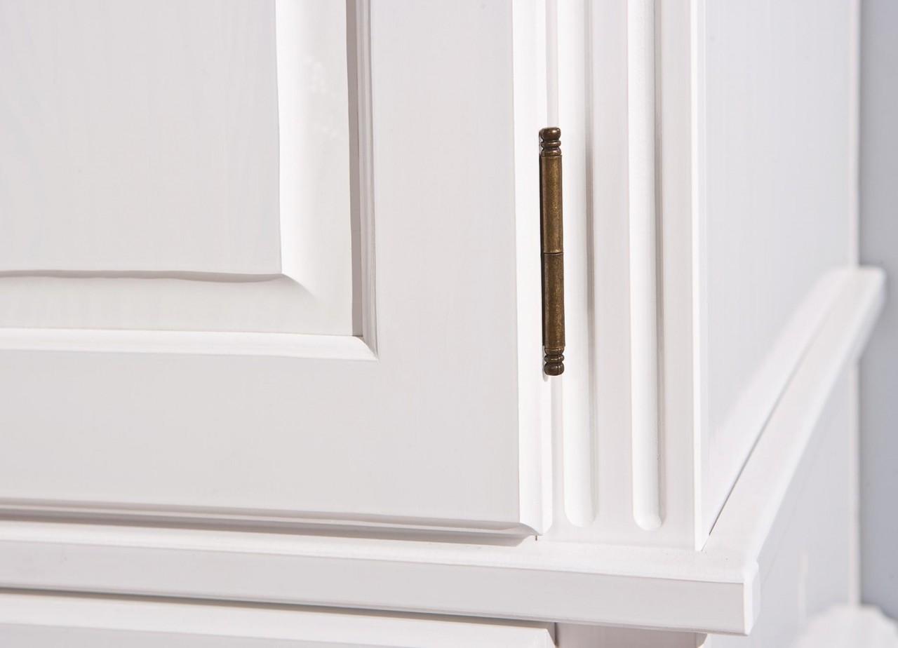 kleiderschrank danz 2 schrank mit 2 t ren kiefer wei lackiert ebay. Black Bedroom Furniture Sets. Home Design Ideas