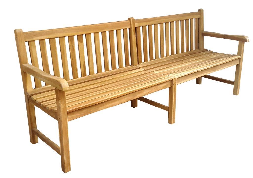 stabile gartenbank picadelly 200 cm in premium teak mit. Black Bedroom Furniture Sets. Home Design Ideas