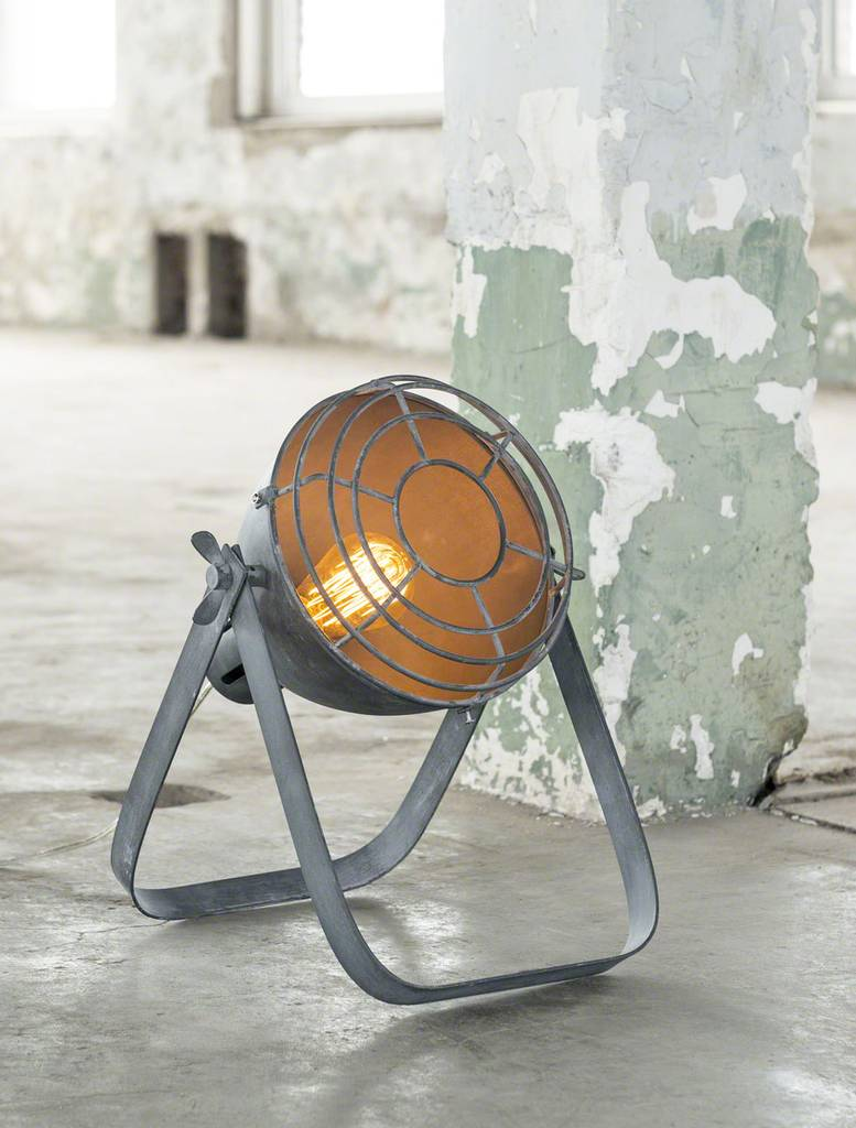 Stehleuchte STUK Bodenleuchte im Vintage Style, Industry Concrete Grey