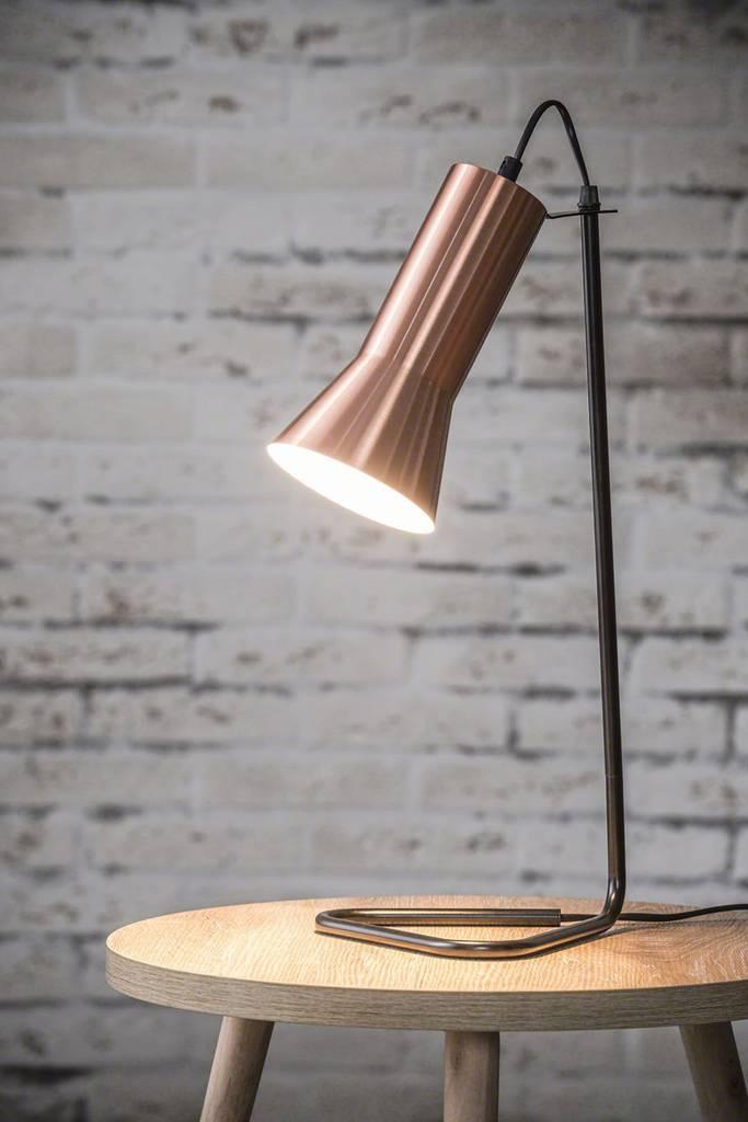 Tischleuchte TRO mit Kupferschirm Designleuchte