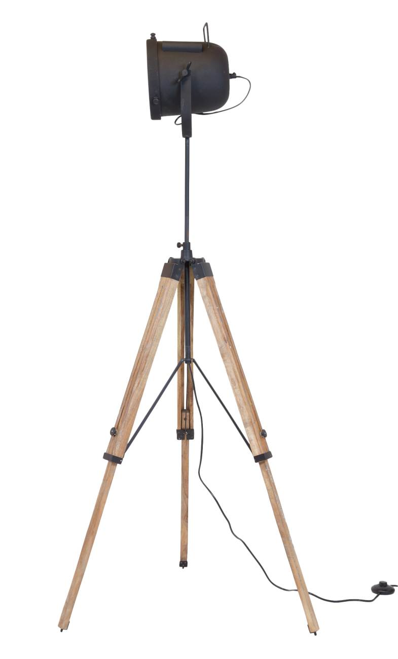 tripod stativ stehleuchte boat mit holzgestell. Black Bedroom Furniture Sets. Home Design Ideas