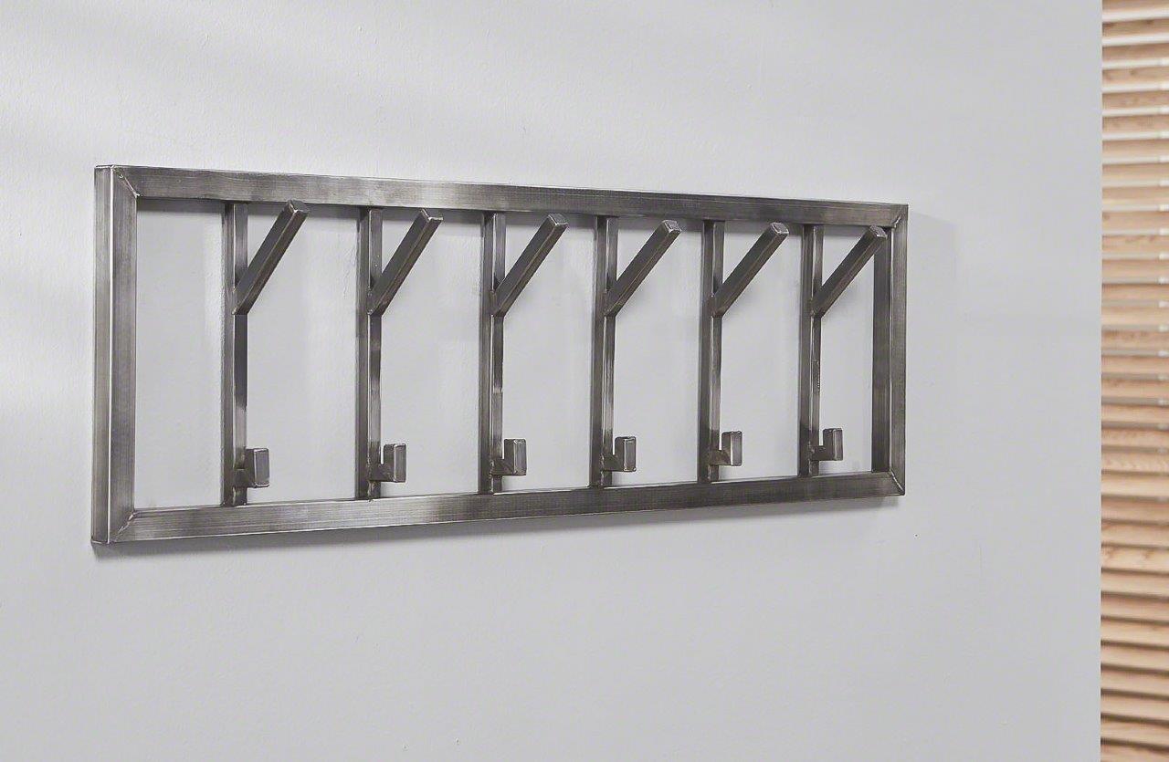 wandgarderobe industrial 6 edelstahl antik geb rstet. Black Bedroom Furniture Sets. Home Design Ideas
