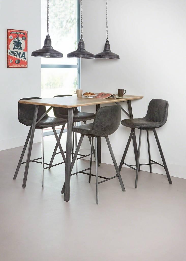bartisch jan 140 x 70 cm tischplatte 3d eiche antik effekt. Black Bedroom Furniture Sets. Home Design Ideas